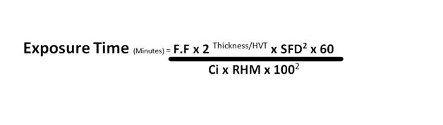 Exposure time calculation formula